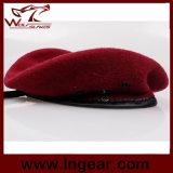軍のベレー帽の軍隊のベレー帽の赤いベレー帽100%のウールのベレー帽