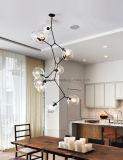 Lâmpada de feijão mágico Retro estilo europeu Pingente Iluminação Creativo Simples Sala de estar de vidro moderno
