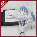100GHz 40 i canali C21-C60 si raddoppiano multiplexor della fibra CWDM con porta 1310nm