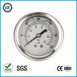 Mesure remplie d'huile liquide de la pression atmosphérique 005 avec l'acier inoxydable