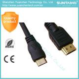 Mini de alta velocidad al cable de la rotación HDMI de HDMI 1080P