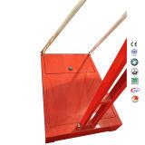 背板が付いている赤く移動可能な高さSMCのボードのバスケットボールの立場