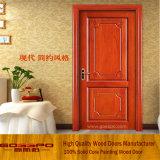 Kundenspezifische feste Walnuss-hölzerne Innenraum-Tür (GSP2-074)