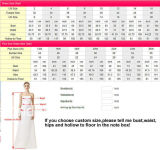 평저선 레이스 결혼 예복 Sequins V-Back 신부 드레스 W15240