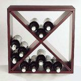 Cubo de madeira do vinho da cremalheira de madeira do vinho para acessórios do vinho