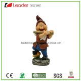 Statue de gnome de Chaud-Vente avec un livre pour la maison et le jardin décoratifs