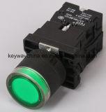 Dia22mm-La118kelnの押しボタンスイッチ、黒、赤、緑、黄色、青、白いカラー、6V-380V電圧