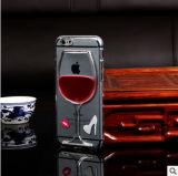 iPhone 5/6/7plusのための赤ワインのコップの携帯電話の箱