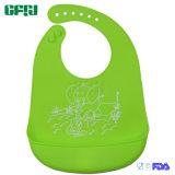 FDA/LFGBの承認の赤ん坊の摩耗の衣服のシリコーンは砕片のキャッチャーが付いている胸当てをちょこちょこ歩く
