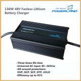 cargador de batería de litio de 136W 48V Fanless con la entrada de información de la CA de la gama completa