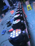 LED 점화 12PCS 10W LED 12PCS 10W RGBW 광속 가벼운 이동하는 맨 위 단계 빛