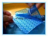 Producción de la fábrica de escrituras de la etiqueta de Anti-Falsificación del vacío de la palabra del rasgón
