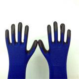 Nylon перчатки работы с покрытием PU