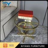 贅沢なデザイン金居間の家具の側面の金属表