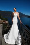 Meri Oberseite neigt Satin-abnehmbare Hochzeits-Kleider