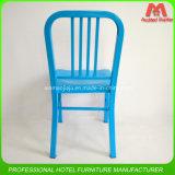 Военно-морской флот металла цвета Foshan голубой обедая стул