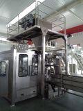 Máquina de embalagem descascada do arroz com transporte e a máquina de costura