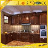 Da cozinha de madeira da grão do OEM frame de alumínio para a mobília da cozinha