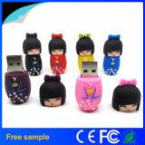 El mejor mecanismo impulsor del flash del USB de la muchacha del kimono de los regalos de la promoción