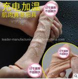heißer Verkauf USBnachladbarer realistischer Dildo-Zerhacker der Qualitäts-1PCS/Lot mit Absaugung-Cup-Schwingung für weibliches Geschlechts-Liebe