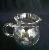 ТеплостойкNp прозрачные стеклянные чашки чая с ручкой