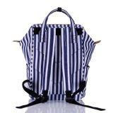 Sac à dos Stripy/Daypack de toile de marine rayée nautique occasionnelle unisexe neuve de créateur