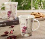 熱い販売陶磁器旅行コーヒー・マグおよび陶磁器の印刷されたコーヒー・マグ