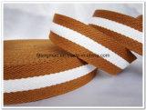 cinghia di cotone bianca di 20mm Brown