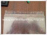 Прозрачные полиэтиленовые пакеты замка застежка-молнии LDPE малые для медицинской с белыми панелью и красной линией