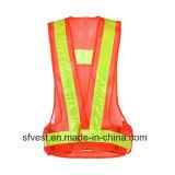 Seguridad en carretera que advierte el acoplamiento con pilas del nilón del chaleco del alto de la visibilidad LED chaleco reflexivo LED de las chaquetas
