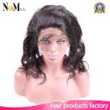 자연적인 바디 파 직물 브라질 Virgin 머리 사람의 모발 360 마감 레이스 정면