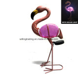 Украшение сада W. нового света фламингоа металла солнечного стеклянное