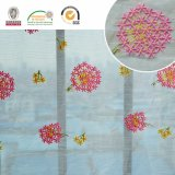 Snowball Pink & Yellow Soft Nouveau Design Lace Ployster Fabric C10003