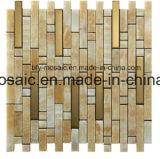 Azulejo de mosaico mezclado del acero inoxidable del jade del mosaico natural del mármol (FYSM013)