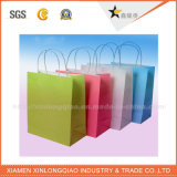 Bolsa de papel impresa colorida de la maneta Twisted de papel de C2s que hace compras