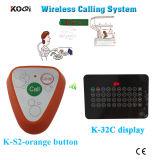 レストラン無線サービス鐘システムのためのセリウム公認433.92MHz Ycallのブランド