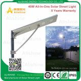 Luz de calle solar de 40W con el panel solar, el regulador y la batería