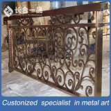 Fabrication d'usines 304 # Acier inoxydable sculpté Bronze Railing / Balustrade