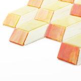 Mano-Tagliare le mattonelle di mosaico giallo del Rhombus di disegno per la stanza da bagno del pavimento