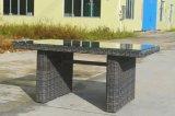 Im Freien Patio-Möbel-rundes Rattan-Weidensofa-Stapel, der den Garten-Dundee-Aufenthaltsraum eingestellt (J709R, speist)