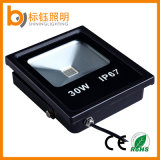 30W Slim IP67 10-100W Quente / Puro / Fresco Branco RGB Outdoor LED Food Light