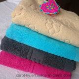 Хлопок Цвет Таможня жаккарда сплетенные рельефным логотипом полотенце для рук