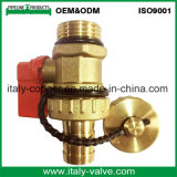 El latón vendedor caliente del Ce forjó la vávula de bola de la salida de aire (IC-3073)