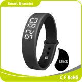 Etapas moventes da caloria do traço e alarme silencioso da distância 24 horas que monitoram o bracelete esperto