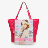 Handtas van het Leer van Embrodered de Echte Dame Top Handle Tote Bag