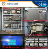 Máquina de etiquetado de la funda automática del control de la pantalla del PLC/equipo cada vez más pequeños