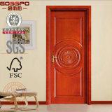 Les Etats-Unis renferment la porte en bois découpée de pièce avec le modèle de fleur (GSP2-022)