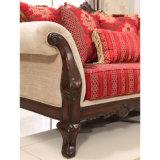 Strato classico americano del sofà antico del salone con l'insieme classico della Tabella