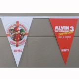 Doppeltes versah kundenspezifisch anfertigen bunte umweltfreundliche Belüftung-Flagge für Dekoration mit Seiten