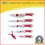 6 cuchillos de cocina del acero inoxidable del PCS fijados con la pintura
